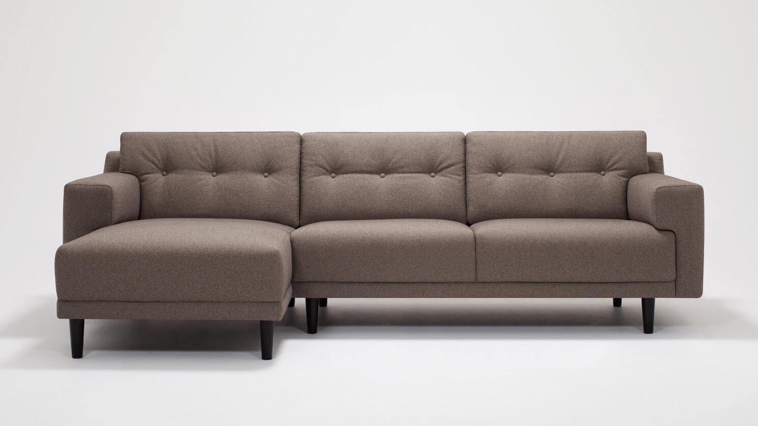 Remi 2-Piece Sectional Sofa with Chaise - Fabric   EQ3